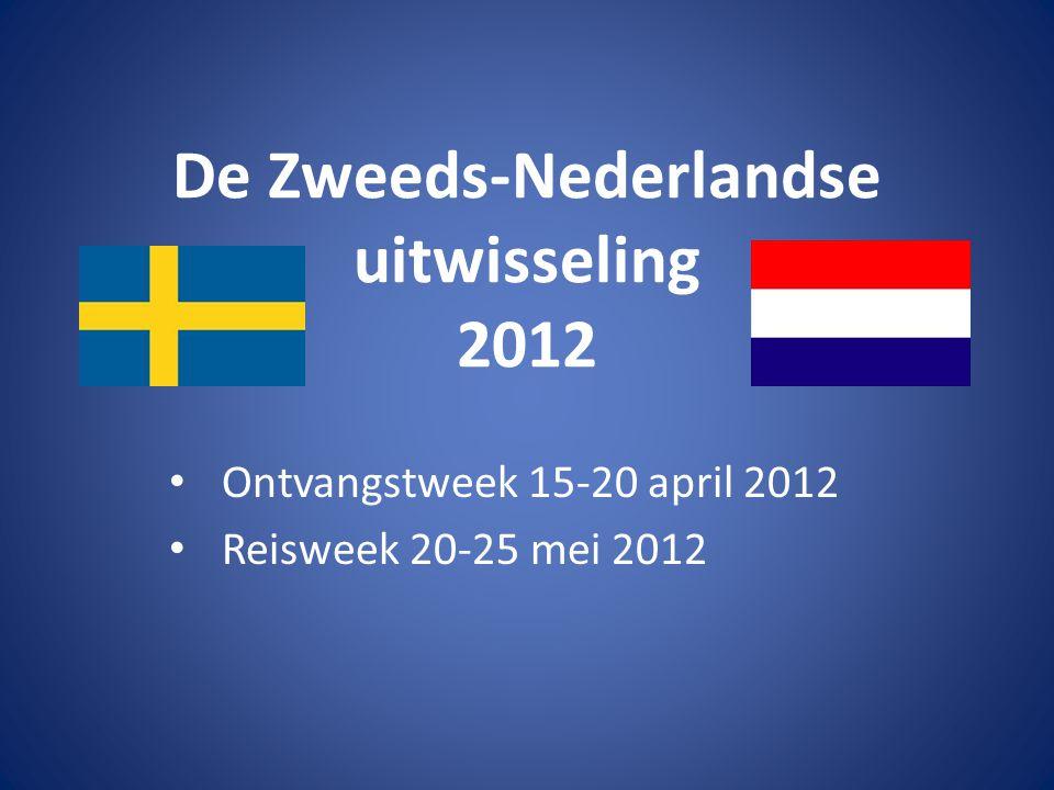 Het programma van de ontvangstweek Zondag 15 april 2012 • 11.25 Aankomst Zweden Schiphol (KLM1108).