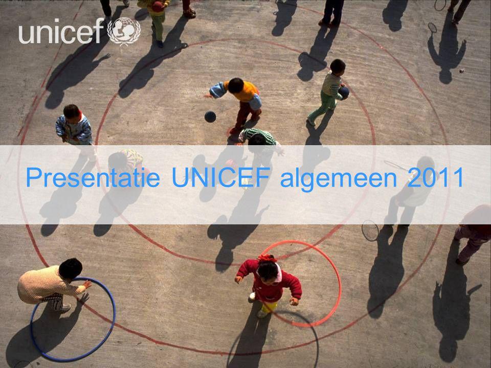 UNICEF Nederland Drie speerpunten: –Voorlichting –Fondsenwerving –Pleitbezorging