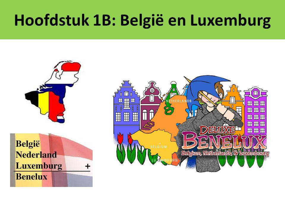 Nederland, België en Luxemburg vormen samen de Benelux.