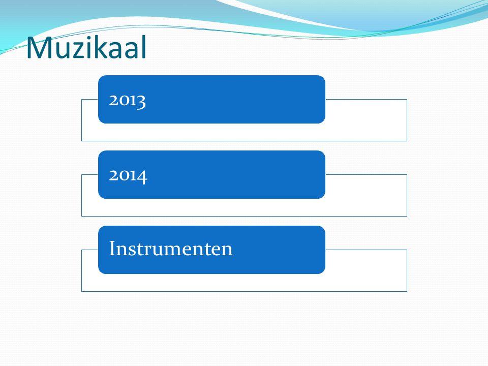 Muzikaal 20132014Instrumenten