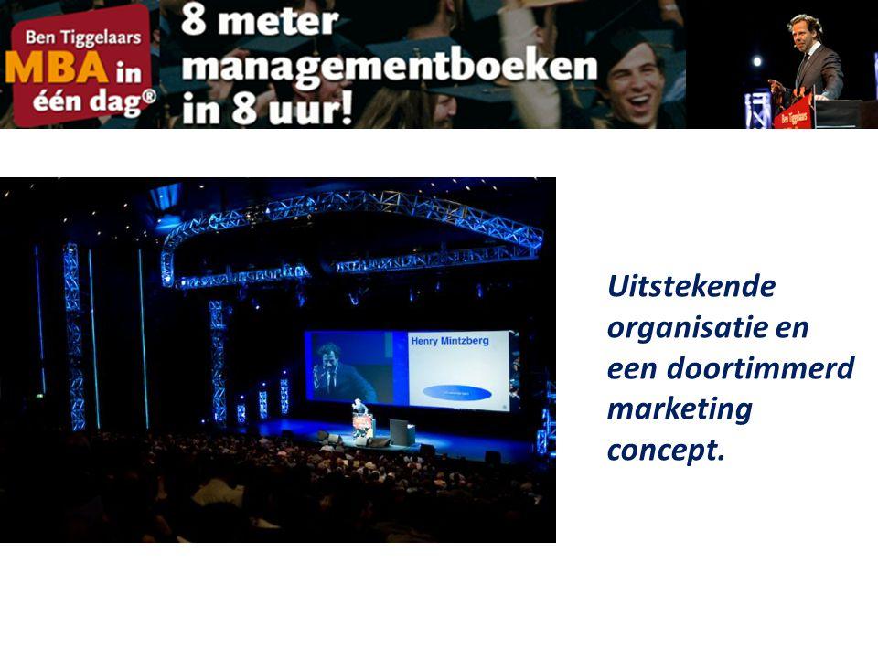 Uitstekende organisatie en een doortimmerd marketing concept.
