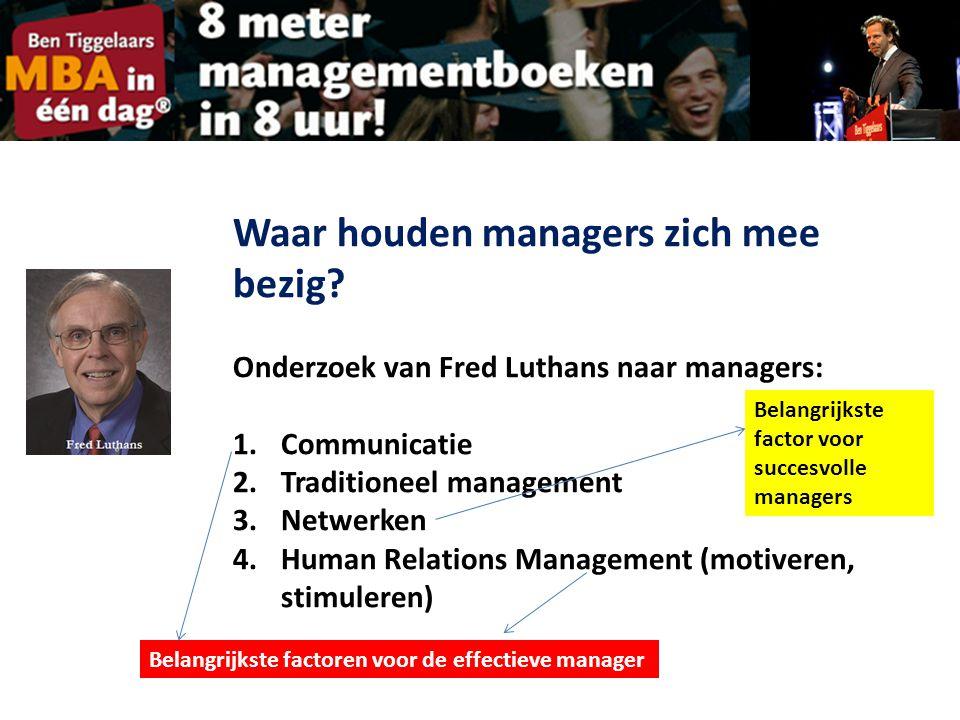 Waar houden managers zich mee bezig.