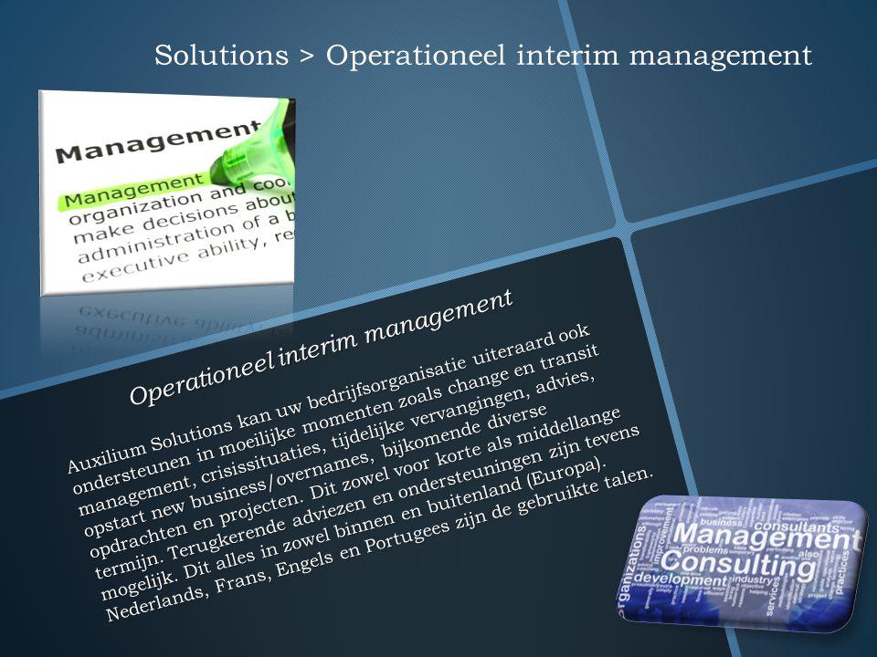 Operationeel interim management Auxilium Solutions kan uw bedrijfsorganisatie uiteraard ook ondersteunen in moeilijke momenten zoals change en transit
