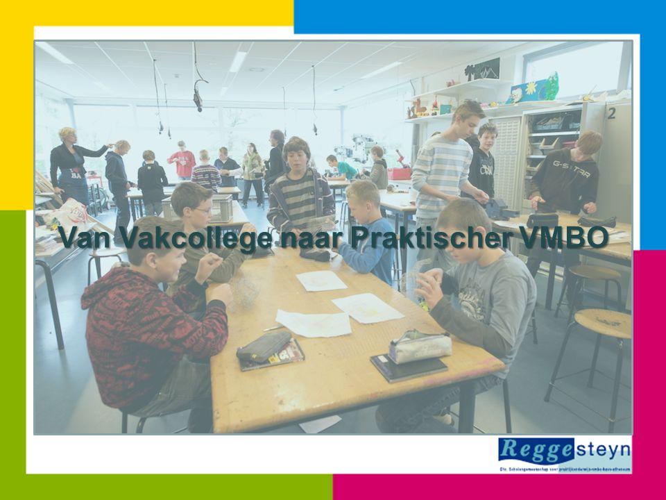 Ervaringen Vakcollege; • Leerlingen zijn zeer gemotiveerd • Leerlingen weten van aanpakken • Leerlingen zijn creatief • Leerlingen zijn oplossingsgericht • Leerlingen zijn vaardig - vak - samenwerken; presenteren