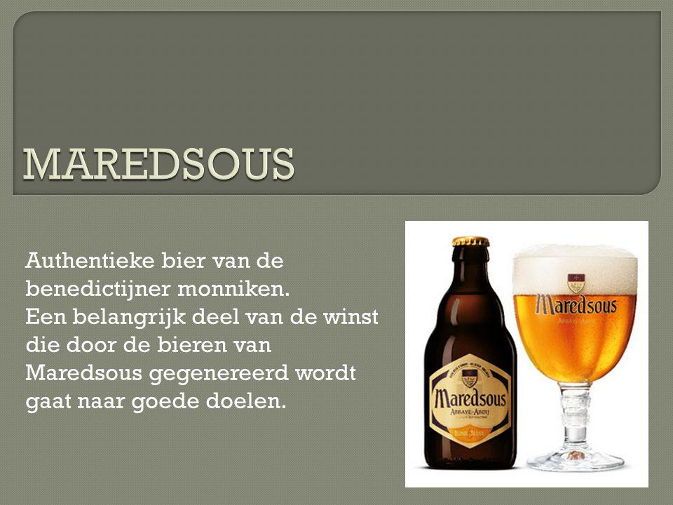 Authentieke bier van de benedictijner monniken. Een belangrijk deel van de winst die door de bieren van Maredsous gegenereerd wordt gaat naar goede do