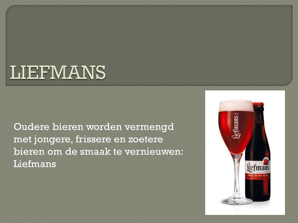 Oudere bieren worden vermengd met jongere, frissere en zoetere bieren om de smaak te vernieuwen: Liefmans