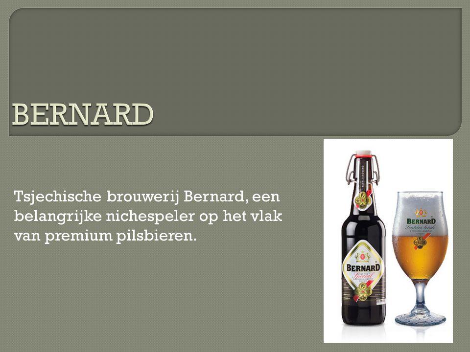 Tsjechische brouwerij Bernard, een belangrijke nichespeler op het vlak van premium pilsbieren.