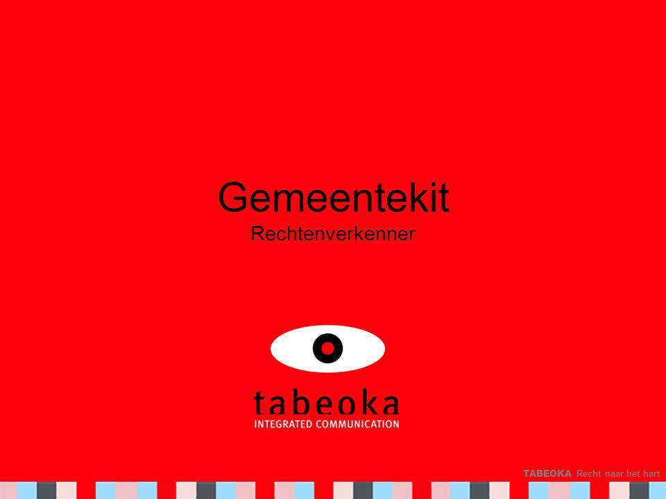 TABEOKA Recht naar het hart Gemeentekit Rechtenverkenner