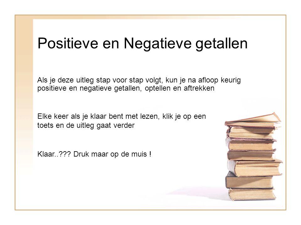 Positieve en Negatieve getallen Als je deze uitleg stap voor stap volgt, kun je na afloop keurig positieve en negatieve getallen, optellen en aftrekke
