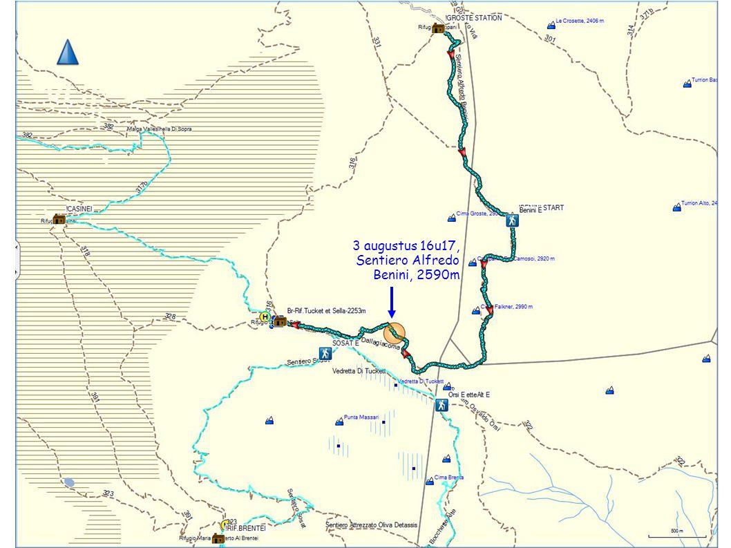 3 augustus 16u17, Sentiero Alfredo Benini, 2590m