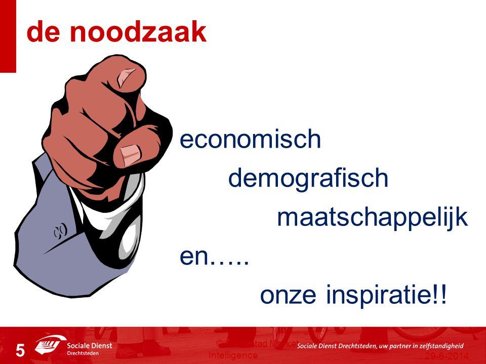 29-6-2014 © Randstad Market Intelligence 5 economisch demografisch maatschappelijk en….. onze inspiratie!! de noodzaak
