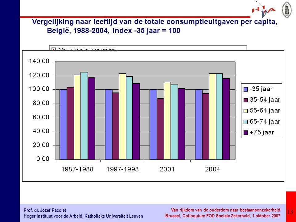 13 Prof. dr. Jozef Pacolet Hoger Instituut voor de Arbeid, Katholieke Universiteit Leuven Van rijkdom van de ouderdom naar bestaansonzekerheid Brussel