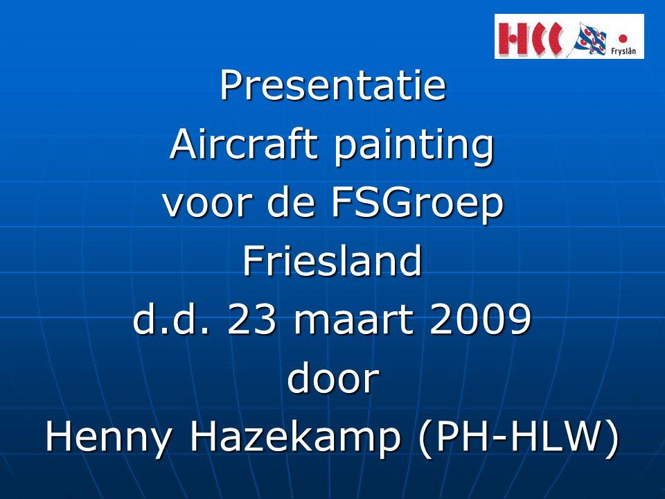 Presentatie Aircraft painting voor de FSGroep Friesland d.d.