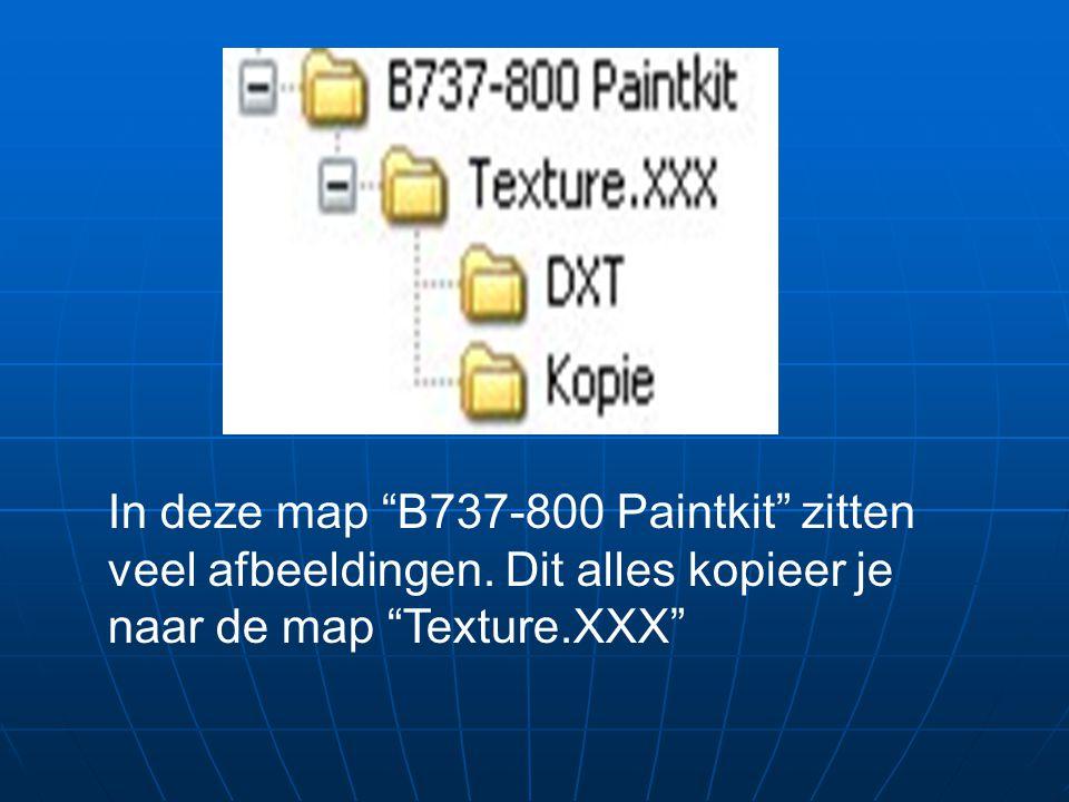 In deze map B737-800 Paintkit zitten veel afbeeldingen.