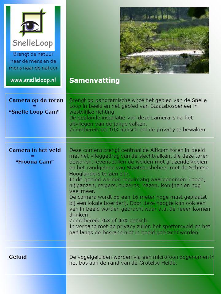 Samenvatting Brengt op panoramische wijze het gebied van de Snelle Loop in beeld en het gebied van Staatsbosbeheer in westelijke richting.
