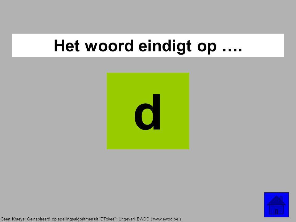 """Geert Kraeye: Geïnspireerd op spellingsalgoritmen uit """"DTokee"""": Uitgeverij EWOC ( www.ewoc.be ) Is het een bevelzin ? OF Is het onderwerp = ik ? OF Is"""