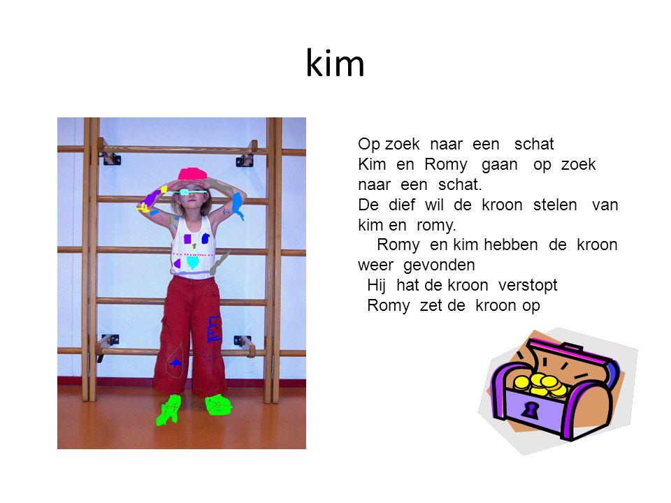 kim Op zoek naar een schat Kim en Romy gaan op zoek naar een schat. De dief wil de kroon stelen van kim en romy. Romy en kim hebben de kroon weer gevo