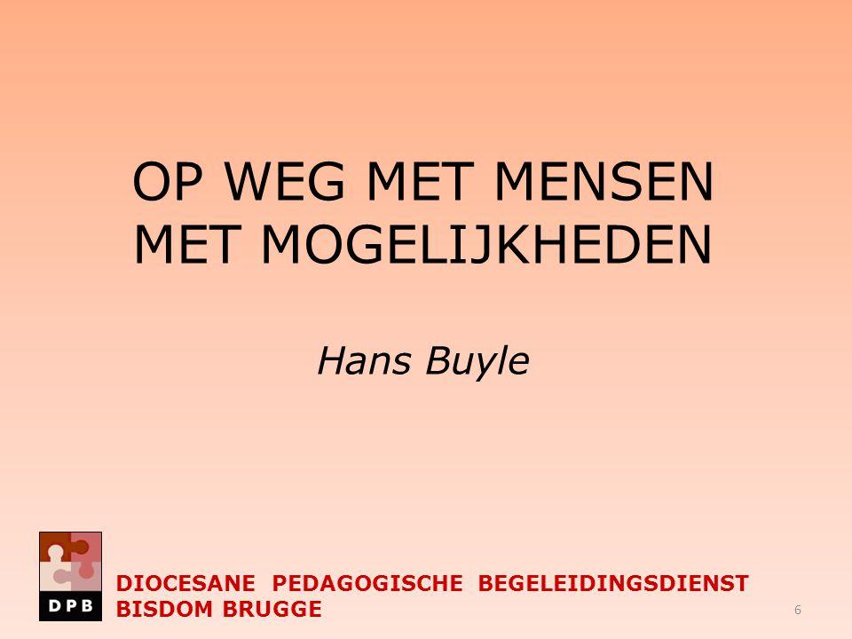 DIOCESANE PEDAGOGISCHE BEGELEIDINGSDIENST BISDOM BRUGGE De studiedag 'ontwikkelingsgericht werken' naar een meerwaarde vanuit de visie van : professionele leergemeenschappen ( E.