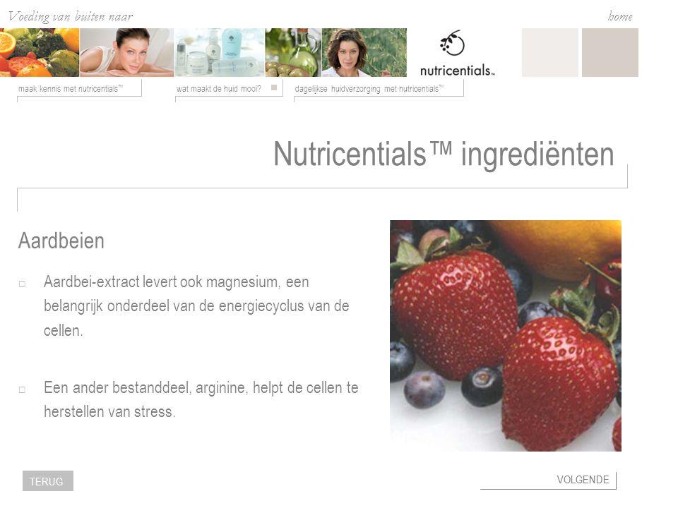 Voeding van buiten naar binnen wat maakt de huid mooi?dagelijkse huidverzorging met nutricentials ™ maak kennis met nutricentials ™ home VOLGENDE TERU