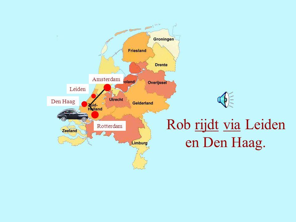 15 Rob rijdt vandaag naar Rotterdam.