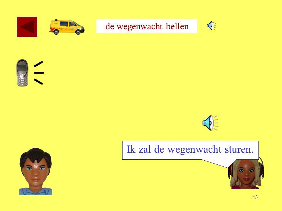 42 de wegenwacht bellen Ik sta 20 kilometer voor Rotterdam. 