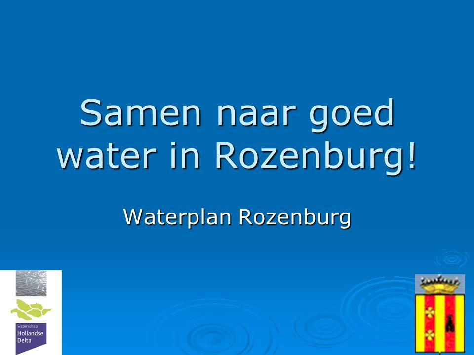 1 Samen naar goed water in Rozenburg! Waterplan Rozenburg