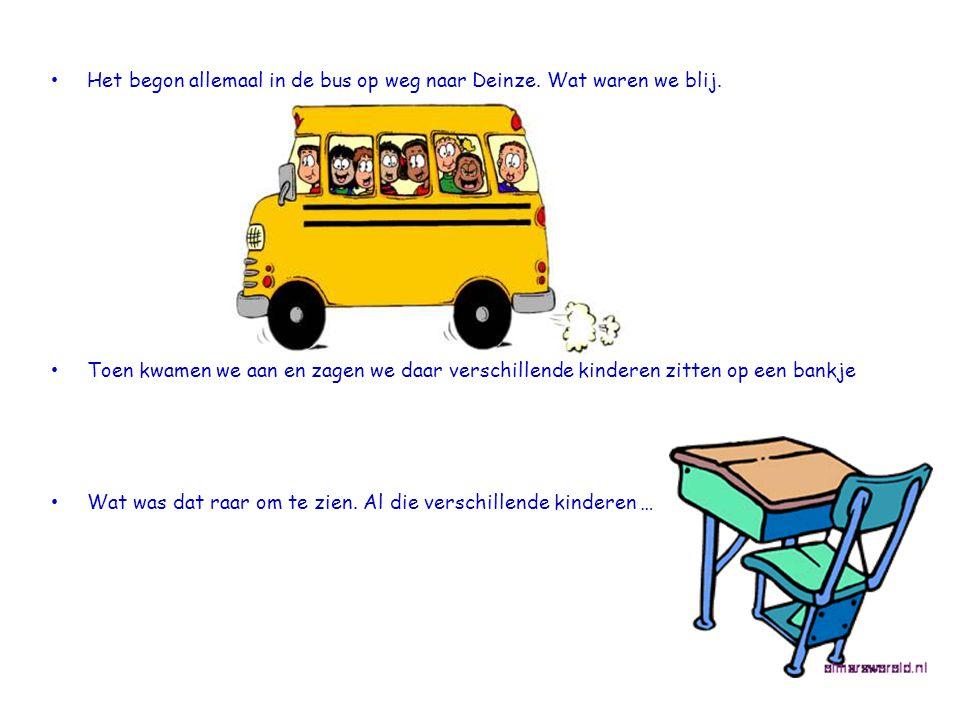 • Het begon allemaal in de bus op weg naar Deinze.