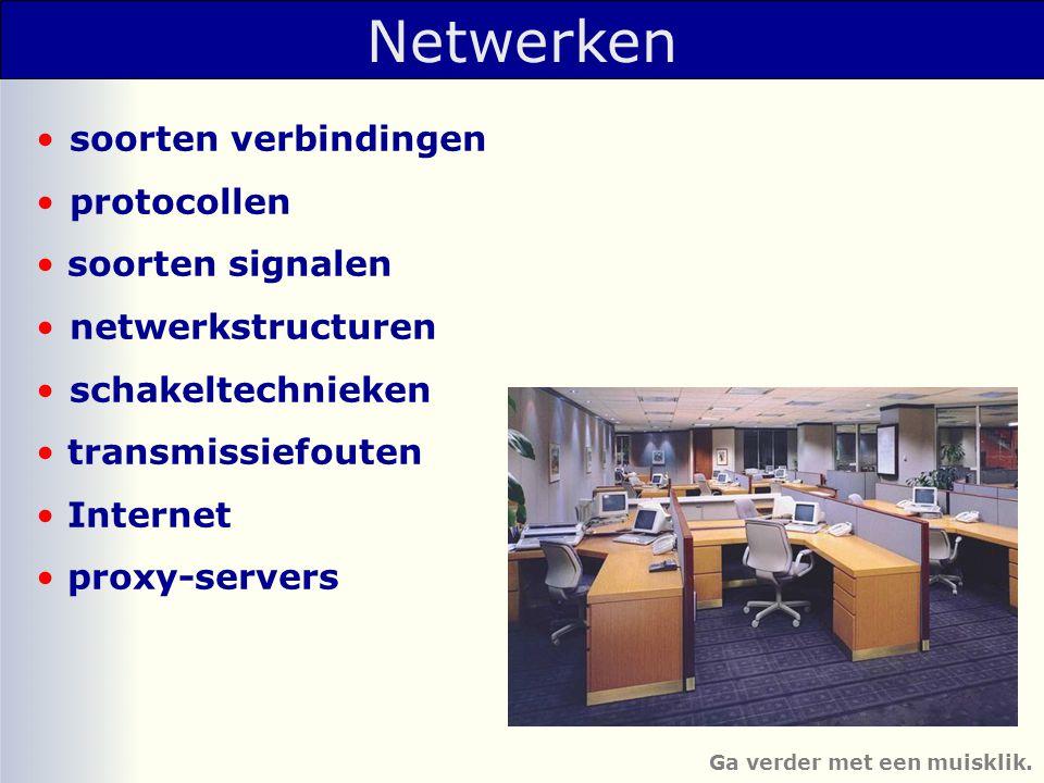 Soorten verbindingen •berichten kunnen in beide richtingen TEGELIJKERTIJD getransporteerd worden.