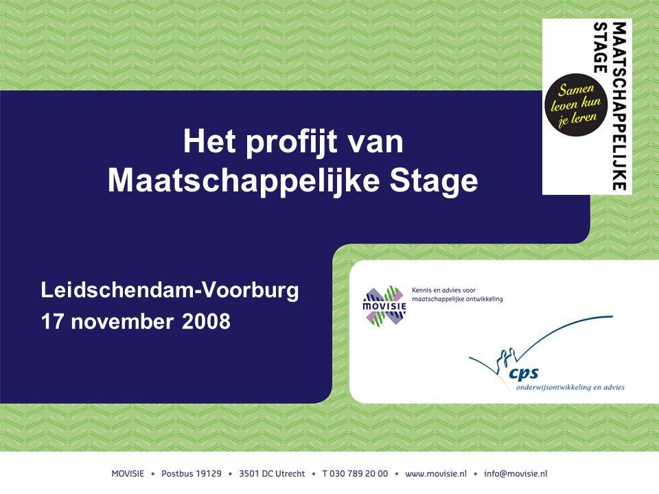 Het profijt van Maatschappelijke Stage Leidschendam-Voorburg 17 november 2008