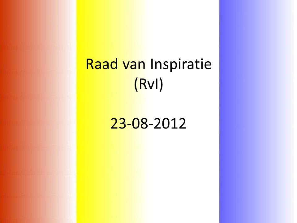 Raad van Inspiratie (RvI) 23-08-2012