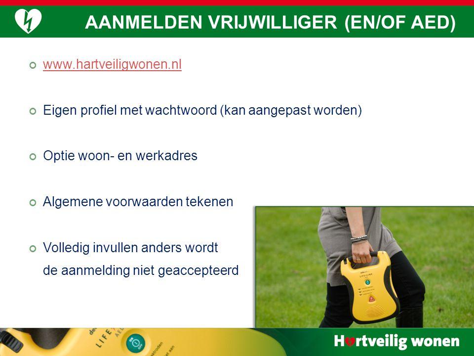www.hartveiligwonen.nl Eigen profiel met wachtwoord (kan aangepast worden) Optie woon- en werkadres Algemene voorwaarden tekenen Volledig invullen and
