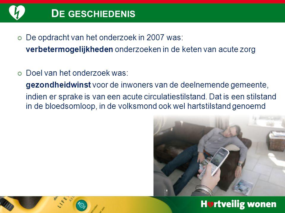 22 De opdracht van het onderzoek in 2007 was: verbetermogelijkheden onderzoeken in de keten van acute zorg Doel van het onderzoek was: gezondheidwin