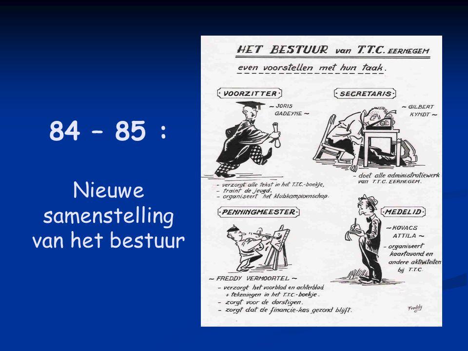 84 – 85 : Nieuwe samenstelling van het bestuur