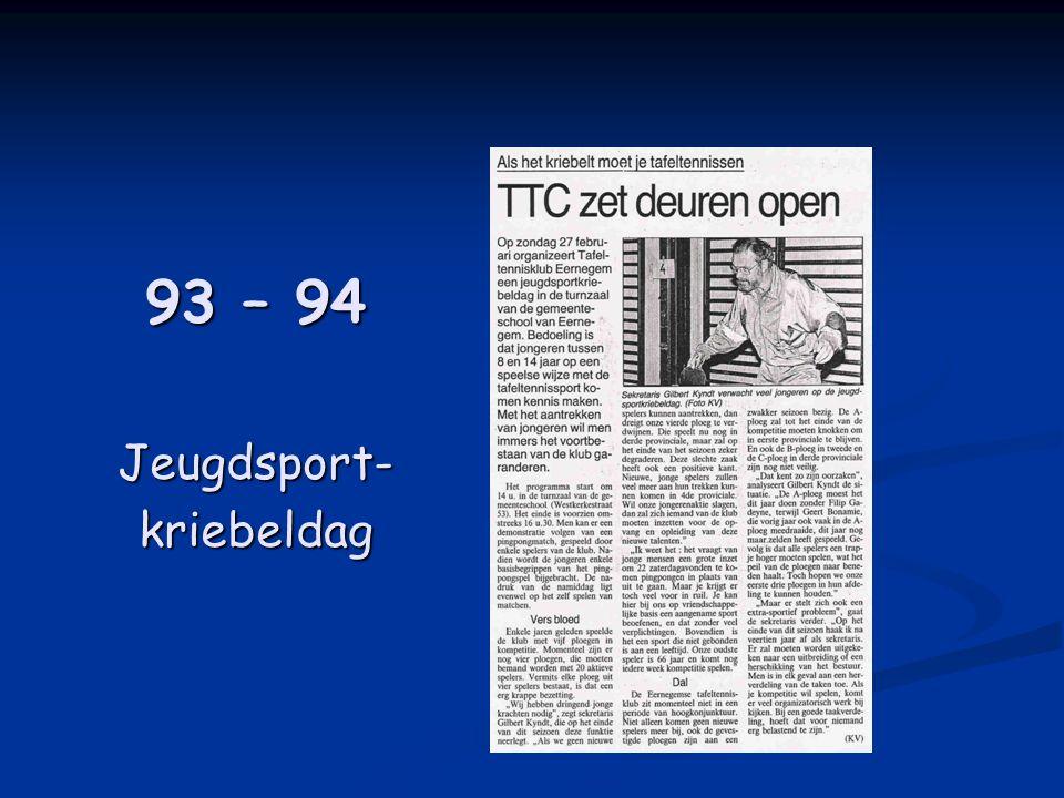 93 – 94 Jeugdsport-kriebeldag