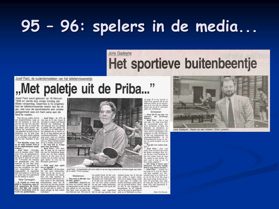 95 – 96: spelers in de media...