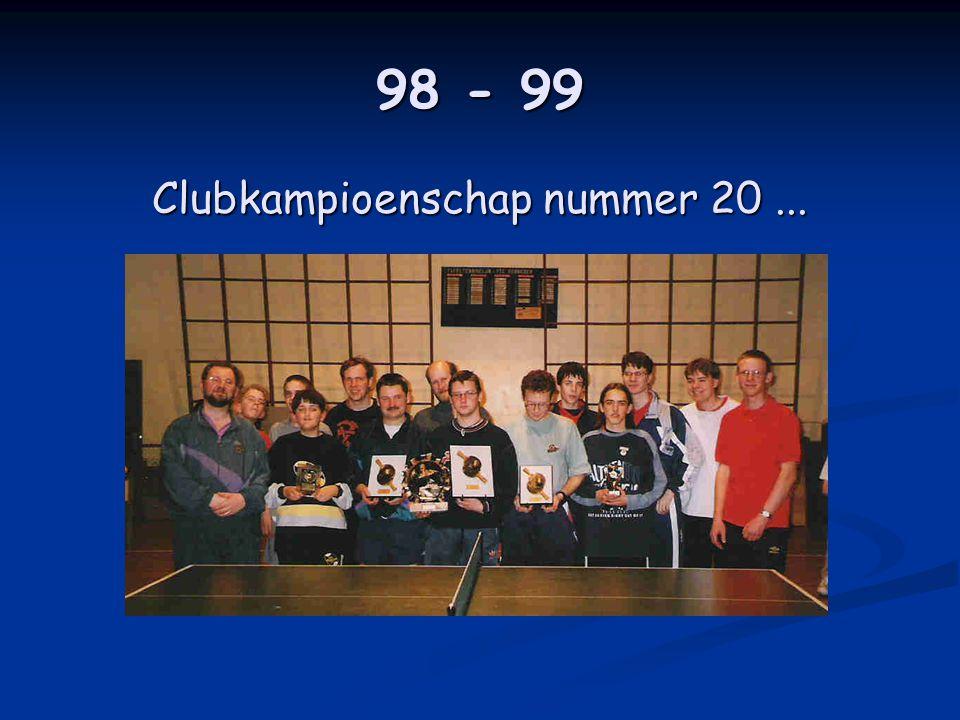 98 - 99 Clubkampioenschap nummer 20...