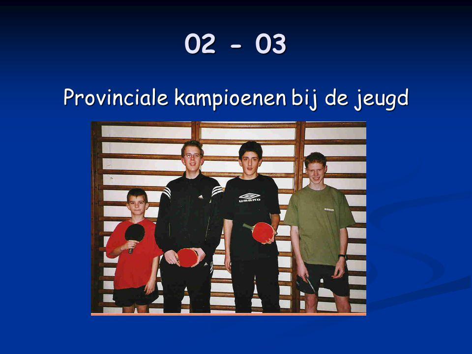 02 - 03 Provinciale kampioenen bij de jeugd