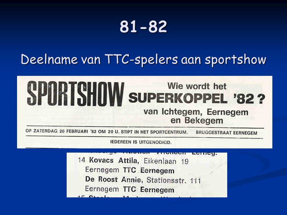 81-82 Deelname van TTC-spelers aan sportshow