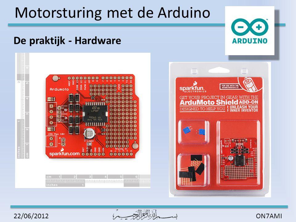 Motorsturing met de Arduino ON7AMI22/06/2012 Aansluiting: