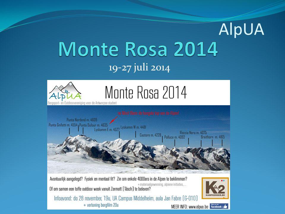 19-27 juli 2014 AlpUA