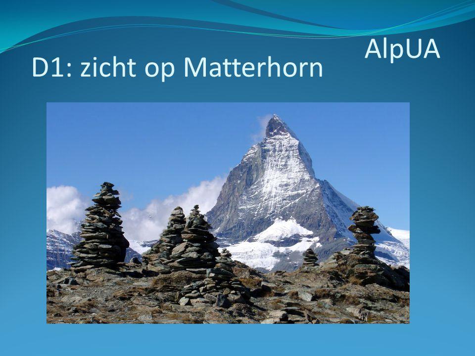 AlpUA D1: zicht op Matterhorn