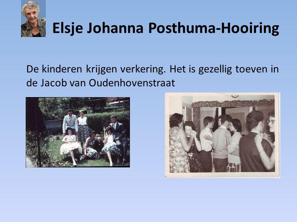 Elsje Johanna Posthuma-Hooiring De kinderen krijgen verkering. Het is gezellig toeven in de Jacob van Oudenhovenstraat