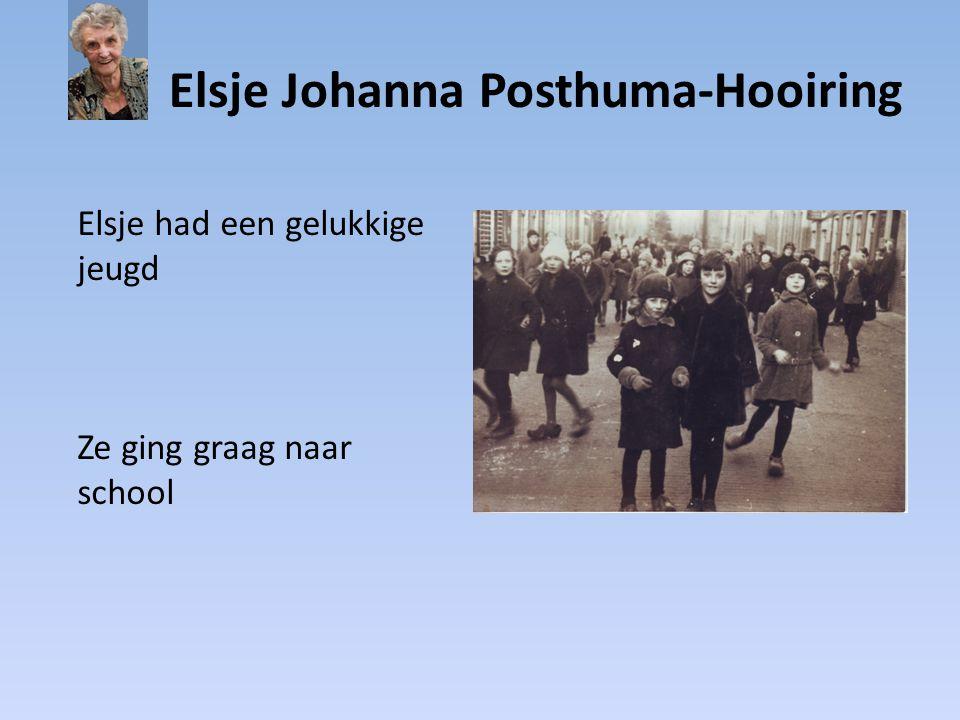 Elsje Johanna Posthuma-Hooiring Ze gaat steeds meer van het leven genieten door dagjes uit en vakanties