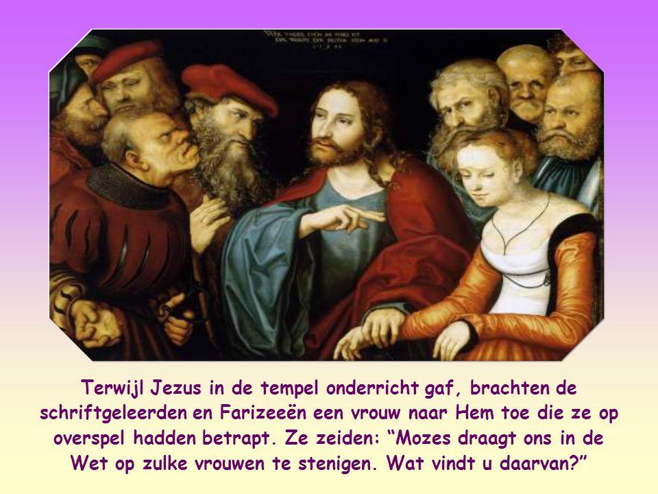 """""""Wie van jullie zonder zonden is, laat die als eerste een steen naar haar werpen."""" Johannes 8,7"""