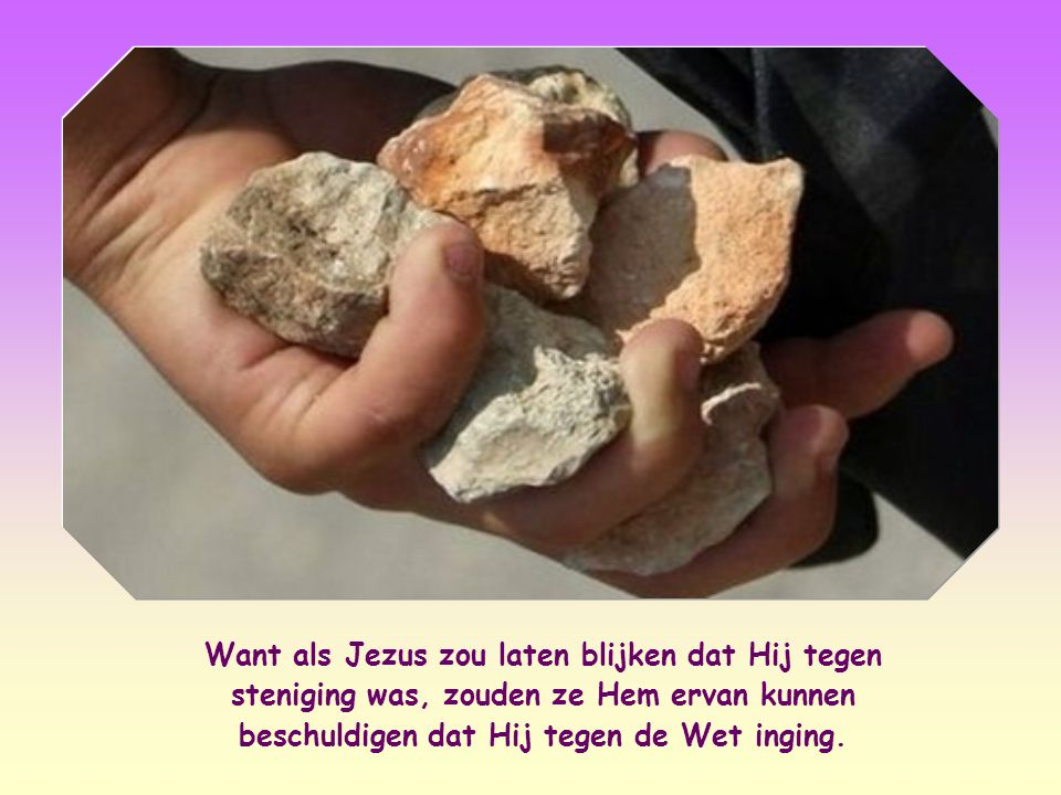 Jezus richt zich tot die mensen die anderen zonder pardon veroordelen en geen rekening houden met het berouw dat in het hart van de schuldige kan opkomen.
