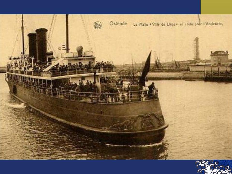"""De Japanse keizer Hiro-Hito bezocht op 14 juni 1921 de Antwerpse haven aan boord van de """"Ville de Liege"""""""