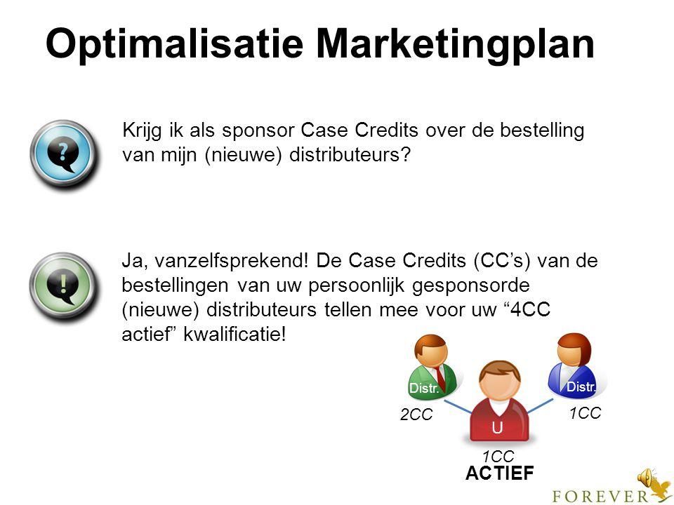 Optimalisatie Marketingplan Als een bestelling van iemand met positie distributeur de 2CC drempel overstijgt, waarom ontvangt hij dan niet op dezelfde factuur de standaard inkoopkorting van 30% over het meerdere boven 2CC.