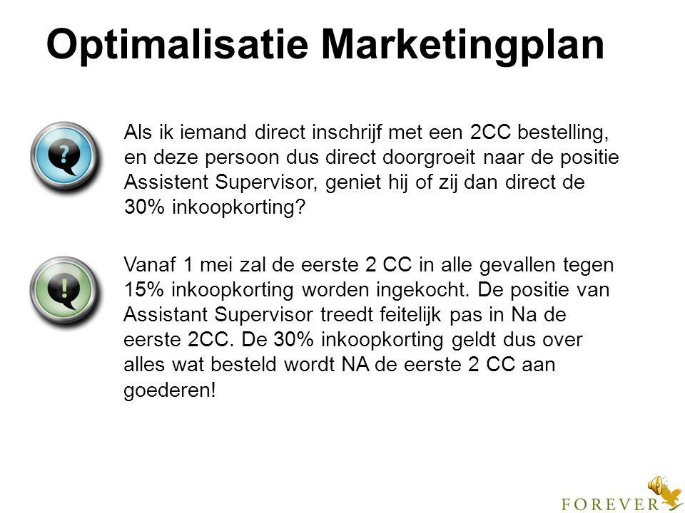 Optimalisatie Marketingplan Hoe wordt een bestaande distributeur, wiens inkoopkorting zal worden bijgesteld, hierover geïnformeerd.