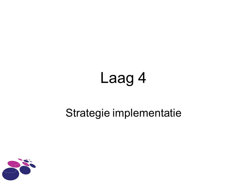 Laag 4 Strategie implementatie