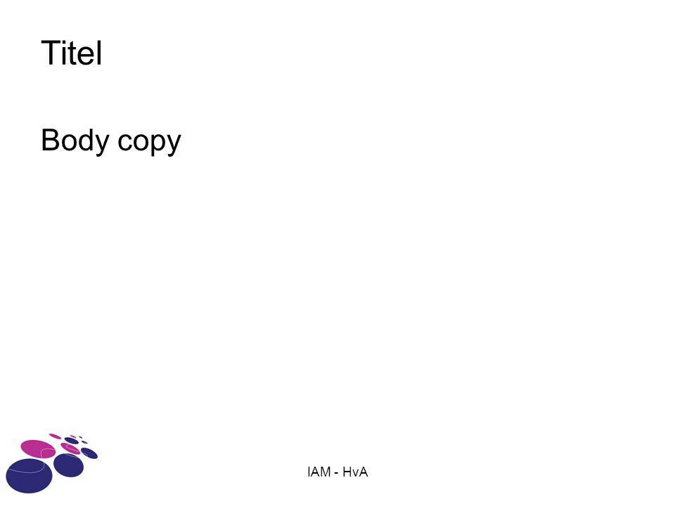 IAM - HvA Titel Body copy